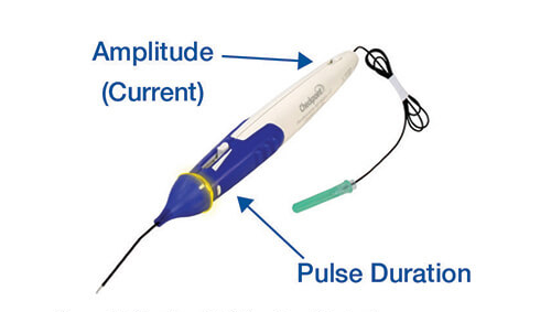 Checkpoint Stimulator Controls: Amplitude (Current), Pulse Duration
